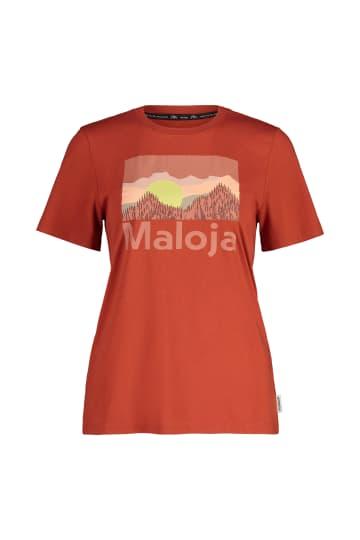 maloja Multisportshirt Shirt HerminaM braun atmungsaktiv elastisch